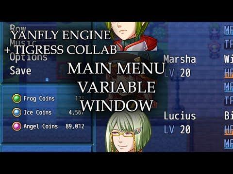 Main Menu Variable Window (YEP) - Yanfly moe Wiki