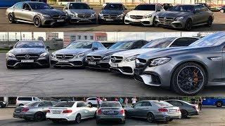 3000 СИЛ или встреча владельцев E 63 AMG разных поколений + С 63 + Audi RS6!) Mercedes. Тест-обзор.