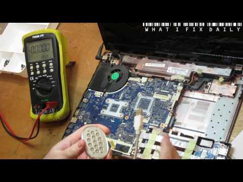 What I fix daily - May 14 2017 - Acer 5552G single dead USB port [ Component level repair ]