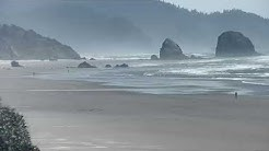 Live: A view looking south from our Cannon Beach, Oregon cam