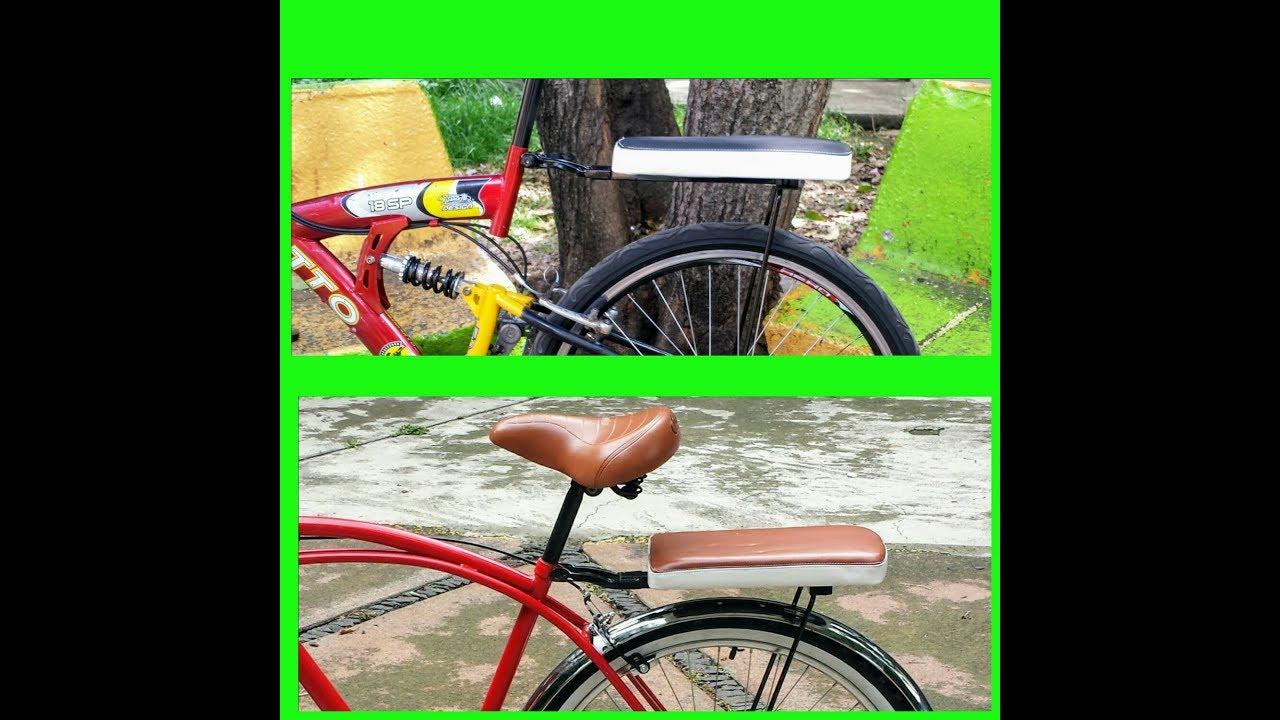 40e83e9ab5a Cómo Instalar Parrilla Con Asiento Para Bicicleta? - YouTube