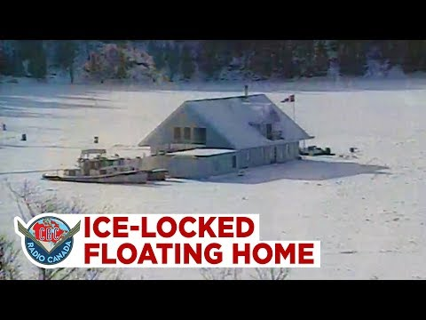 The Floating, Ice-locked Home In The Middle Of The Ottawa River At 24 1/2 Sussex Dr.