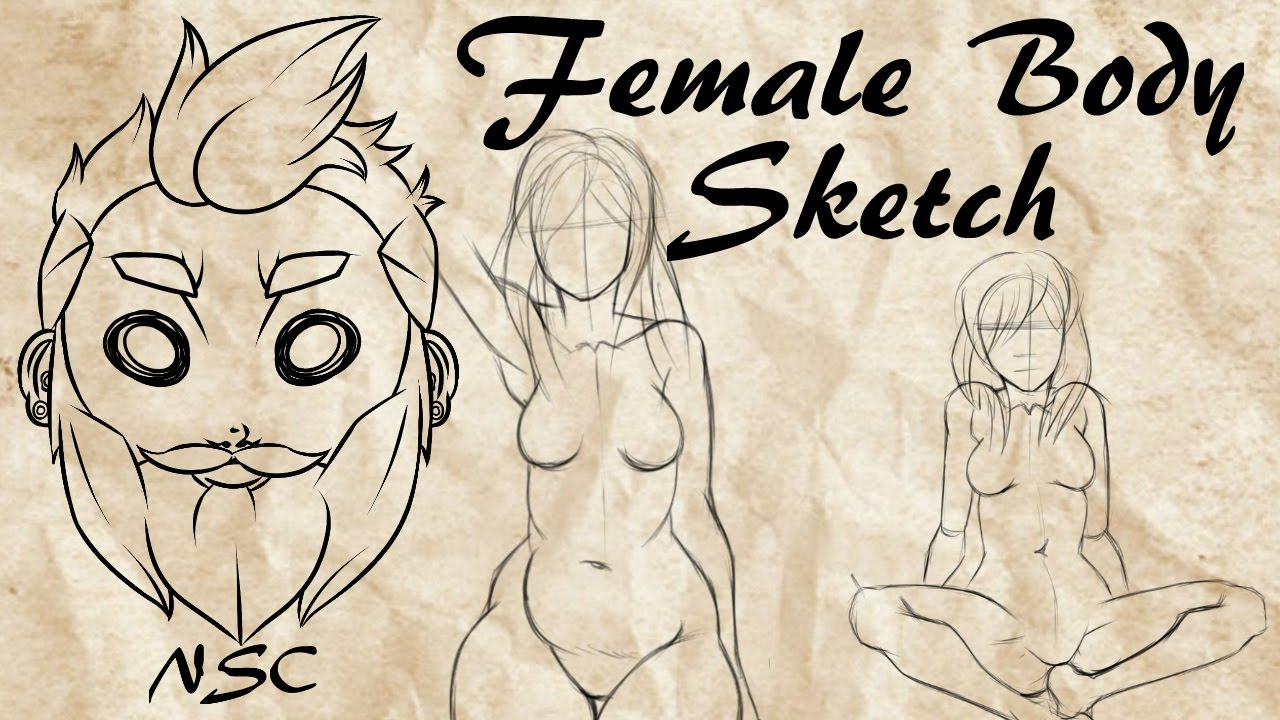 Female Anatomy Drawing Practice - YouTube
