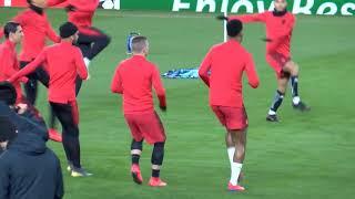 Verratti à l'entraînement sur la pelouse d'Old Trafford