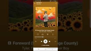 Tyler , The creator- Foreward ft.Rex Orange Country