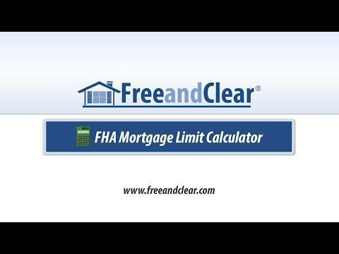 FHA Mortgage Loan Limit Calculator Video