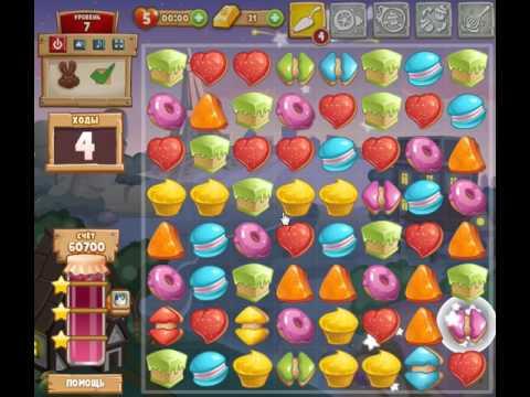 игра Сладкая Заварушка три в ряд приложение в контакте