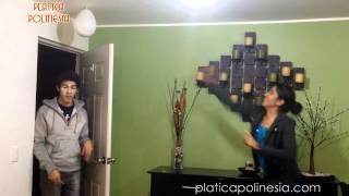 Lluvia de harina en la cabeza  | LOS POLINESIOS BROMAS PLATICA POLINESIA
