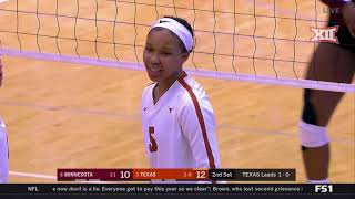 Texas Vs. Minnesota Volleyball Highlights