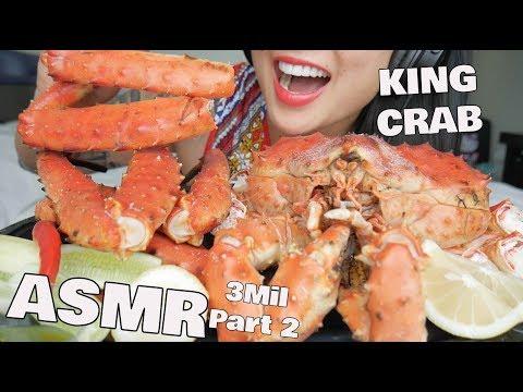ASMR WHOLE GIANT KING CRAB ***3 MIL PART 2*** (EATING SOUNDS) NO TALKING   SAS-ASMR