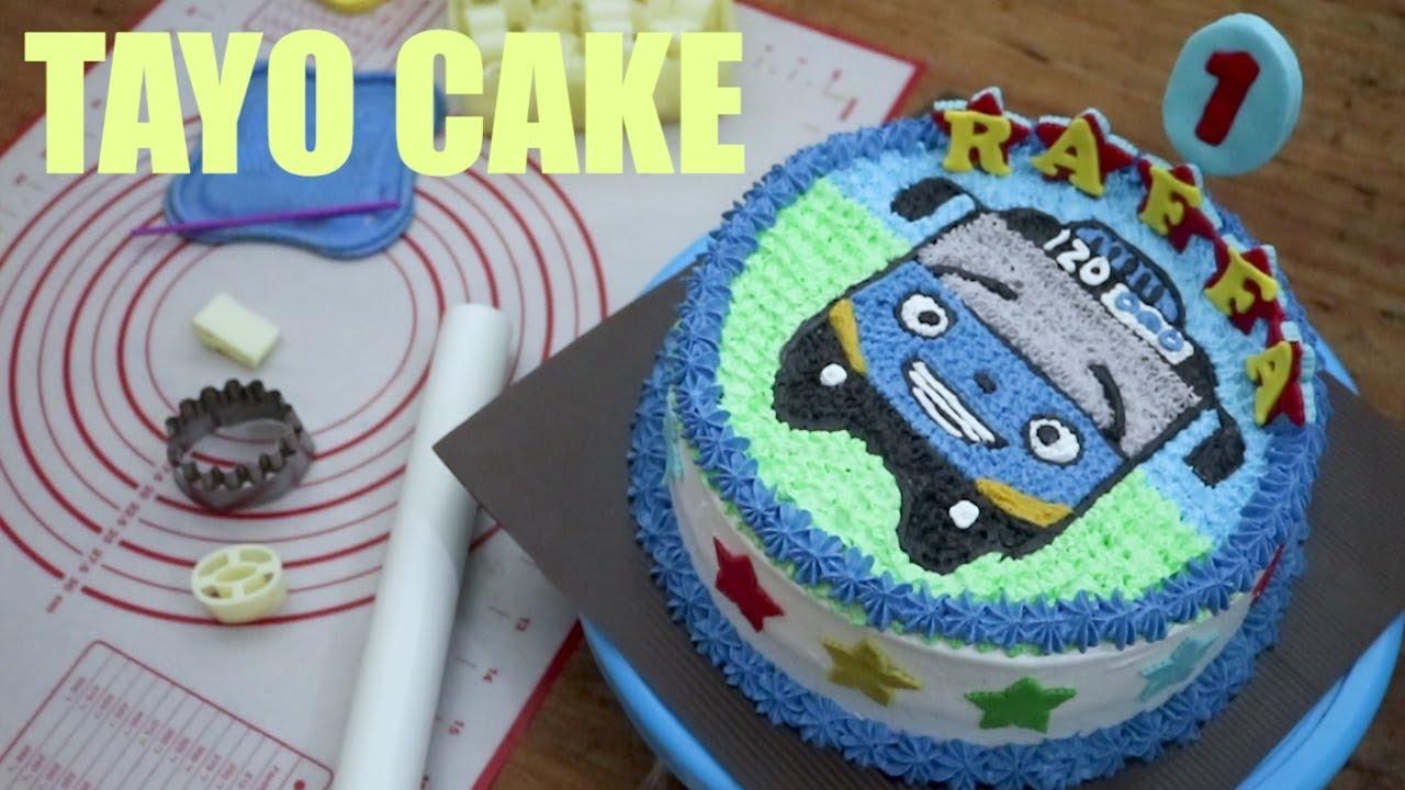 Cara Menghias Kue Anak Dengan Buttercream Kue Ultah Anak Anak Tayo Youtube
