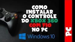 Como instalar o controle de XBOX 360 COM FIO no WINDOWS 10