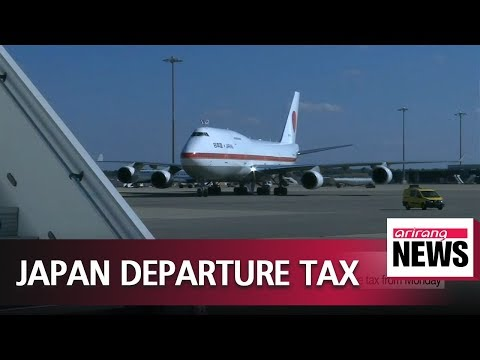 People departing Japan will have to pay 1,000 yen departure tax from Monday