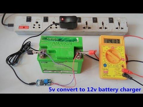 12v-battery-charger-is-made-on-5v-mobile-charger- -dc-dc-adjustable-boost-converter