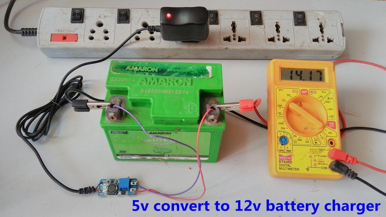 12v Battery Charger Is Made On 5v Mobile Dc Adjustable Transformerless Solar Inverter Circuit Homemade Projects Boost Converter