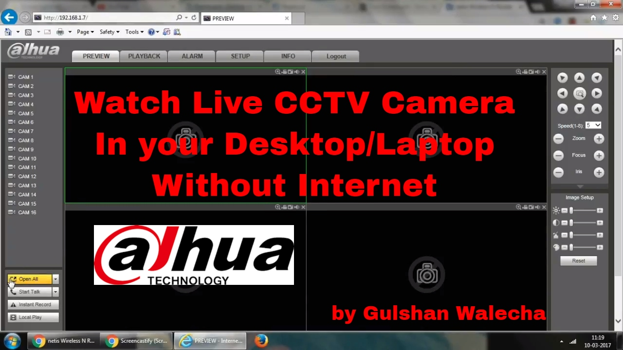 How to Connect Dahua DVR with Laptop without internet!