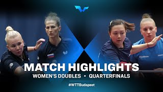 Olga Vorobeva /Yana Noskova vs Chantal Mantz/Yuan Wan | WTT Contender Budapest 2021 (1/4)