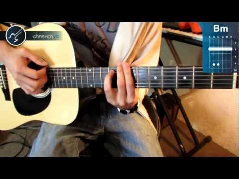 """Cómo tocar """"Feel Good Inc."""" de Gorillaz en Guitarra Acústica (HD) Tutorial - Christianvib"""