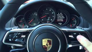 Porsche settings and Auto Start-Stop tutorial