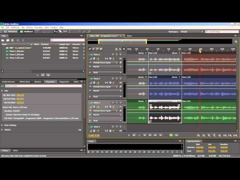 Introduction to Music Production  How To Compile Using Adobe Audition CS6