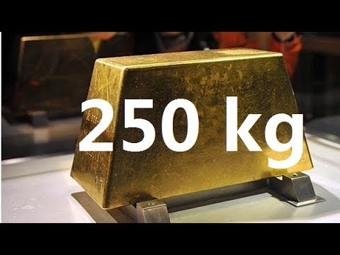 The largest gold bars in the world