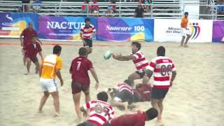 Manta 2011: Rugby Playa: Venezuela vs. Paraguay : 1er Tiempo