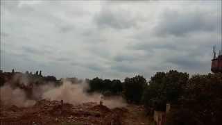 Wyburzanie kominów hutniczych (LauraHutte)