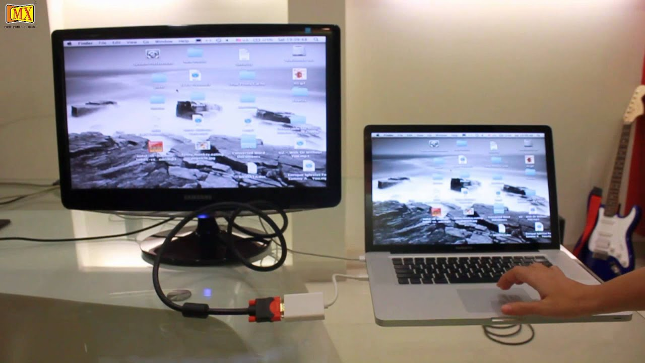How to connect MacBook Pro to a Monitor Using VGA - YouTube