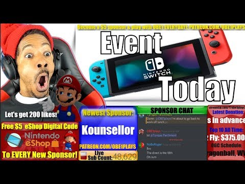Nintendo Switch Event Later Today!