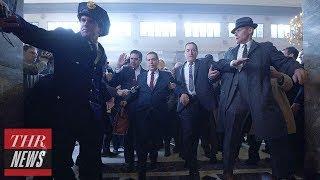 """Robert De Niro and Al Pacino Get """"De-Aged"""" in New 'The Irishman' Trailer   THR News"""