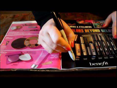 ASMR Magazine Page Turning ~ Ulta Catalog Shopping