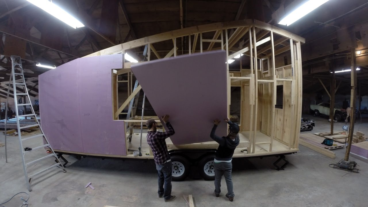 A D I Y Tiny House Build In Motion Shed Tiny House 8