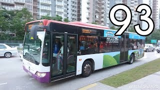 [SBST] SBS6189B on Service 93 - Mercedes Benz Citaro
