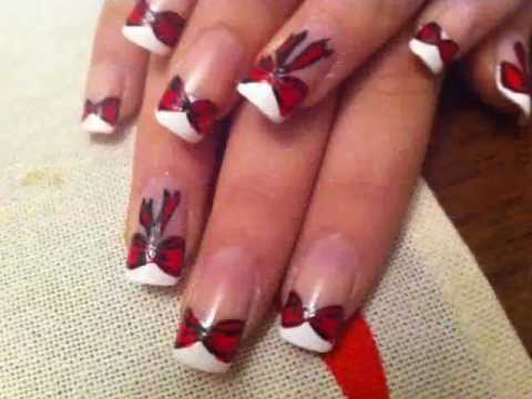 Bow Nail Art Design Cute And Easy Youtube