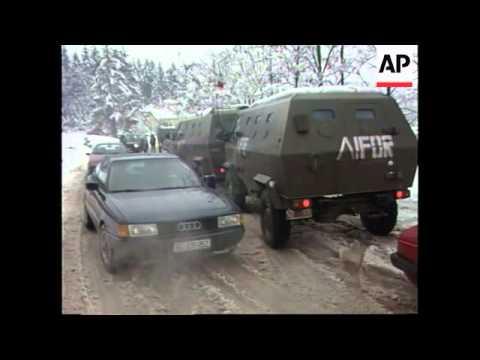 Bosnia - IFOR Troops In Pale