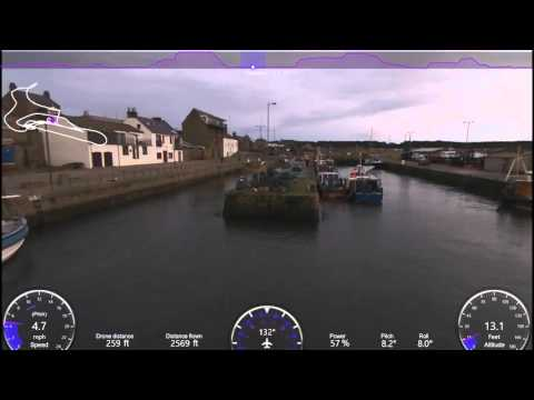 Burghead Harbour Drone Footage