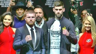 Canelo Alvarez vs. Rocky Fielding final press conference and face off
