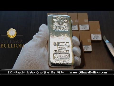 1 Kilo Republic Metals Silver Bar - Ottawa Silver Buyer
