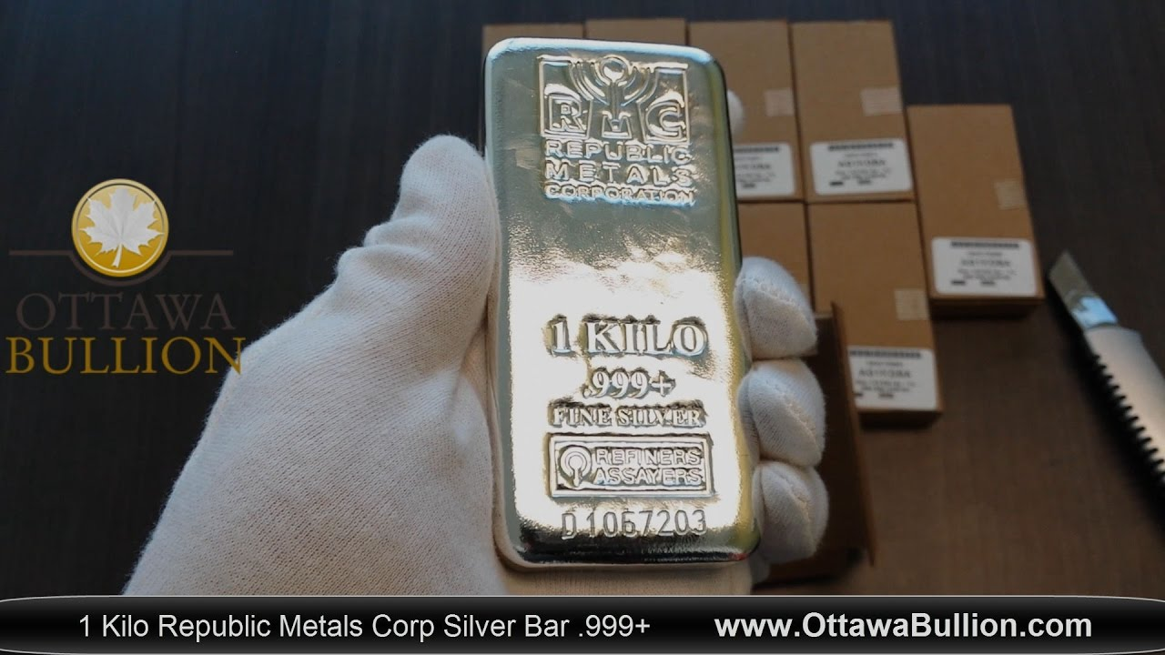 1 Kilo Republic Metals Silver Bar Ottawa Silver Buyer