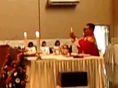 Tuhan saya tidak pantas/ Pemecahan Hosti yg dinyanyikan oleh rm Kristianto. Misa Salib Suci.