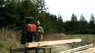 Sawmill Homemade / Home Built Chainsaw Mill