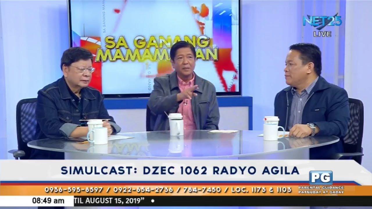 Download Sa Ganang Mamamayan interviews former Senator Bongbong Marcos