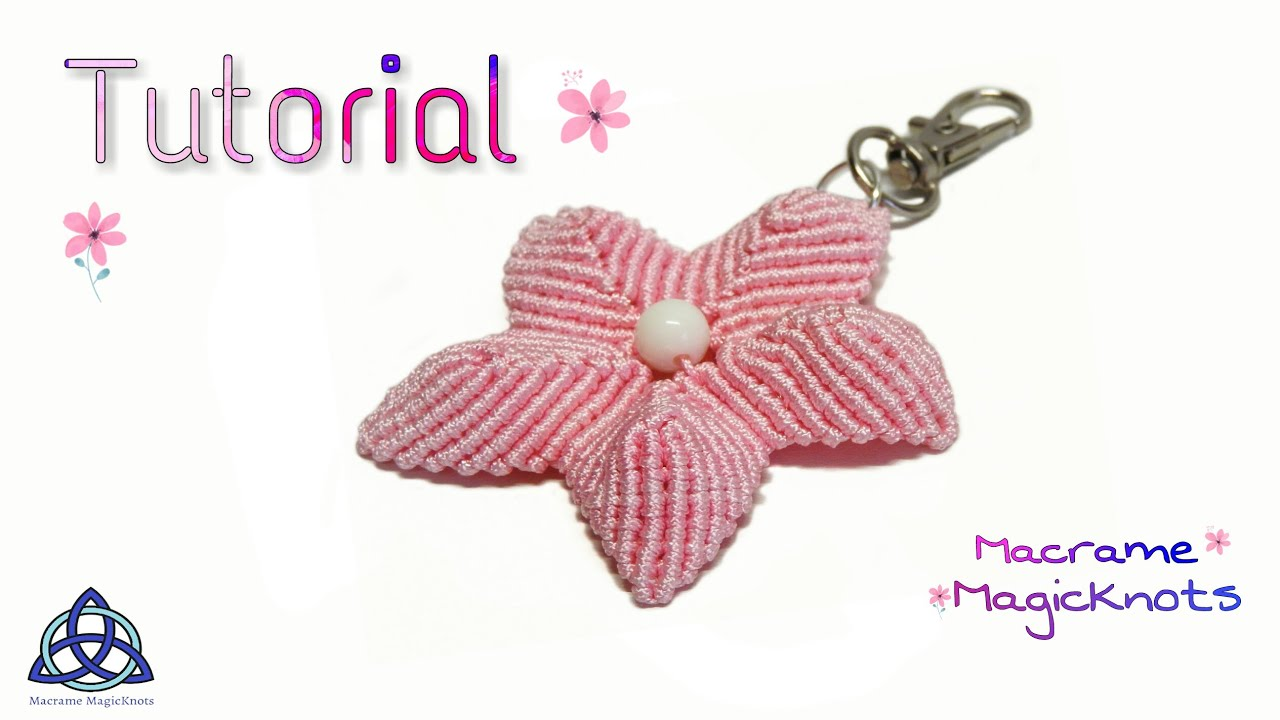 Macrame Tutorial Keychain Simple Lotus Flower Youtube