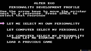 Alter Ego - Male gameplay (PC Game, 1986)