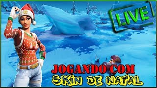 Fortnite-Playing avec la peau de Noel
