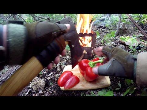AXE COOKING, Chicken Fajitas On A Bush Box