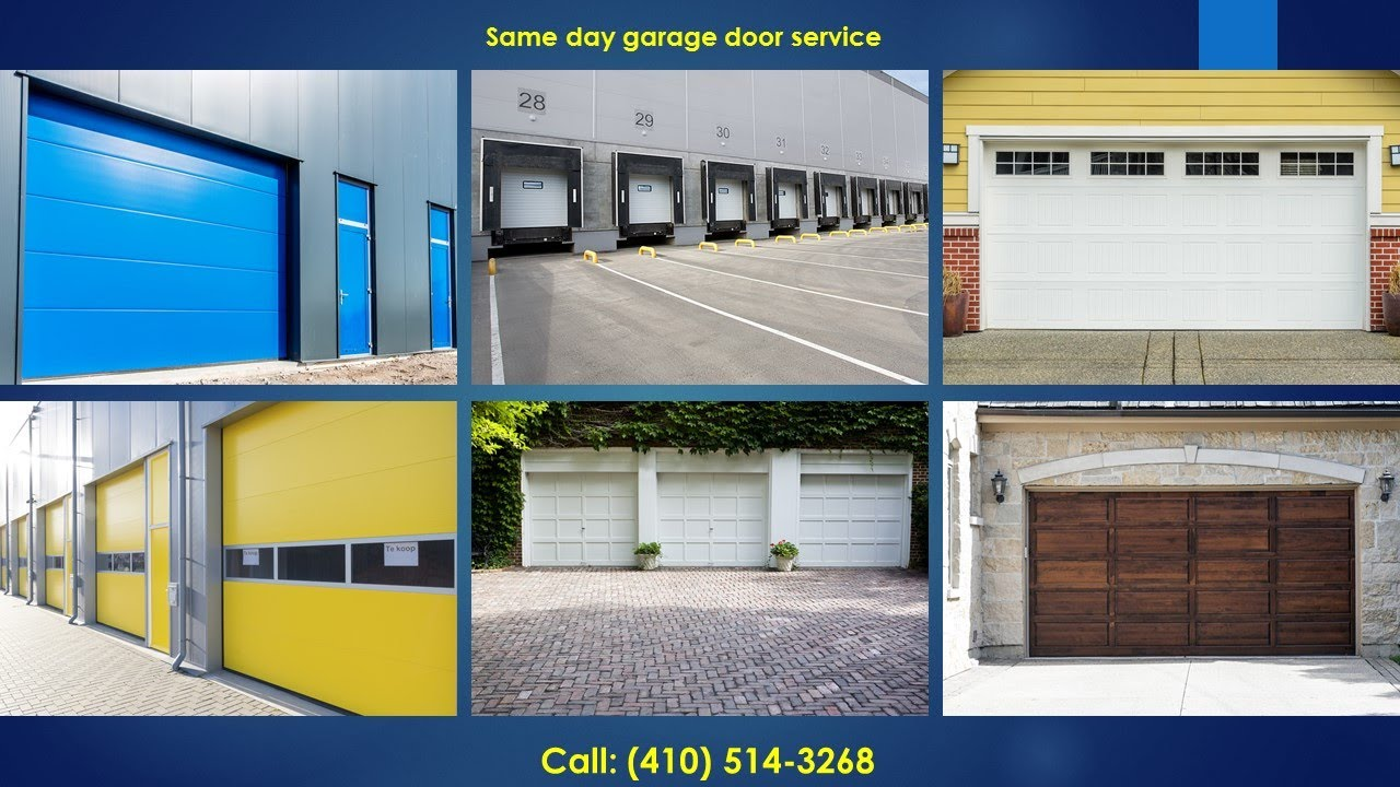 Garage Door Repair Annapolis 410 514 3268 Youtube