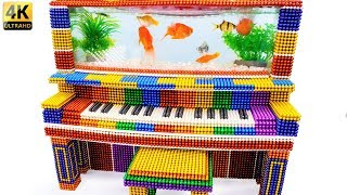 DIY - Build Aquarium Piano Fish Tank Goldfish With Magnetic Balls (Satisfying) - Magnet Balls