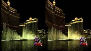3D Bellagio Fountains in Las Vegas (Side by Side)