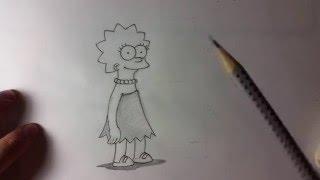 Рисунки карандашом. Как нарисовать Лизу Симпсон поэтапно. How to draw Lisa Simpson step by step.(Рисунки. Рисунки карандашом. Я в социальных сетях: https://vk.com/pencilmania https://vk.com/vpolo Рисунки карандашом поэтапно...., 2016-02-14T17:20:48.000Z)